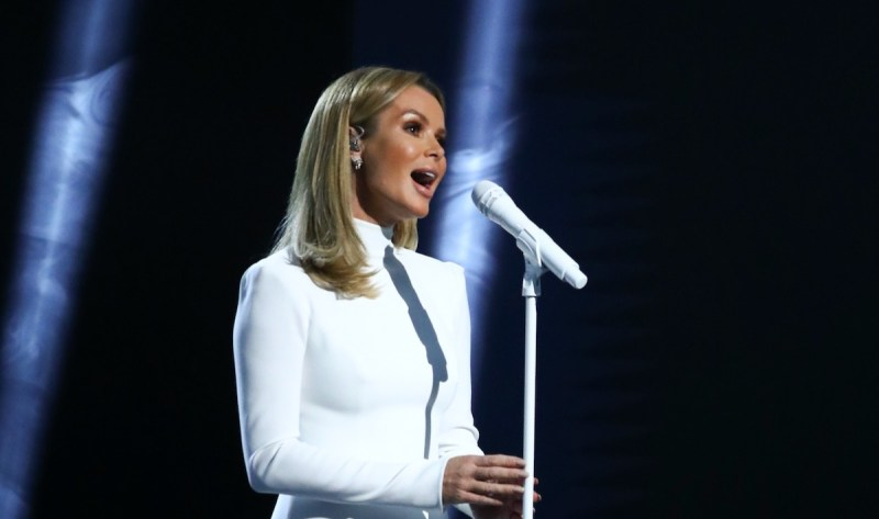 Amanda Holden performs.
