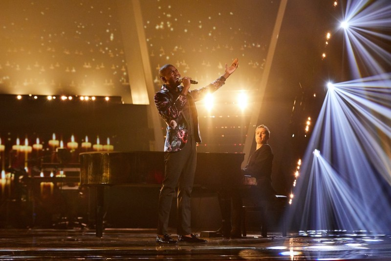 Team Will: Gevanni Hutton performs. Picture: ITV