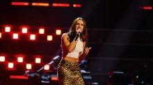 Lauren Drew performs.
