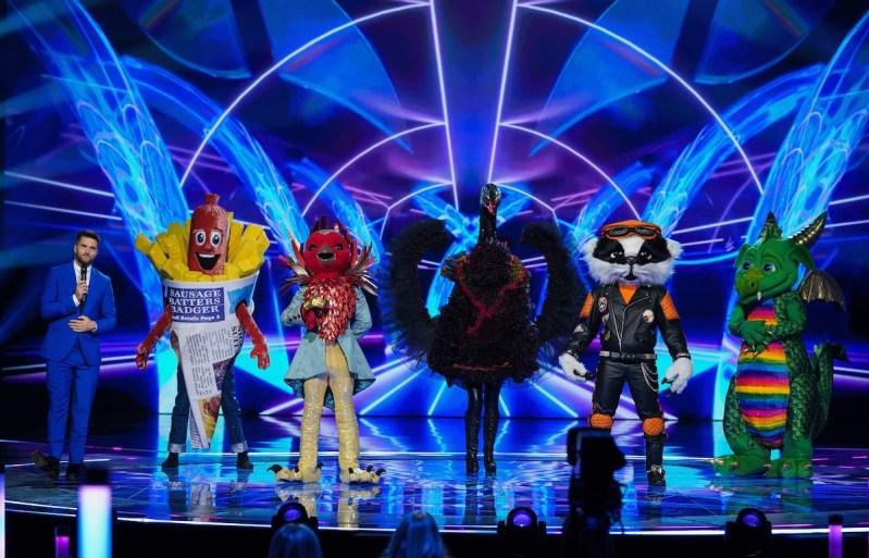 Joel Dommett, Sausage, Robin, Swan, Badger and Dragon.
