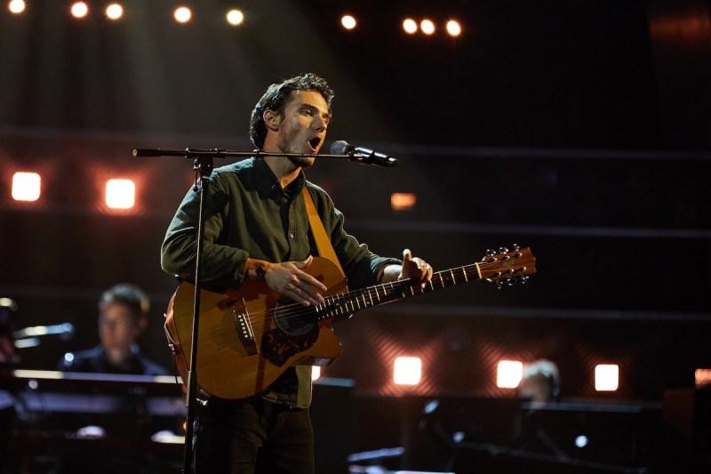 Benjamin Haycock performs.