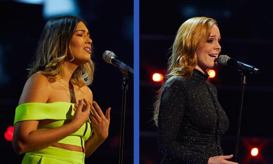 Team Will: Stephenee Leal and Nadia Eide perform.