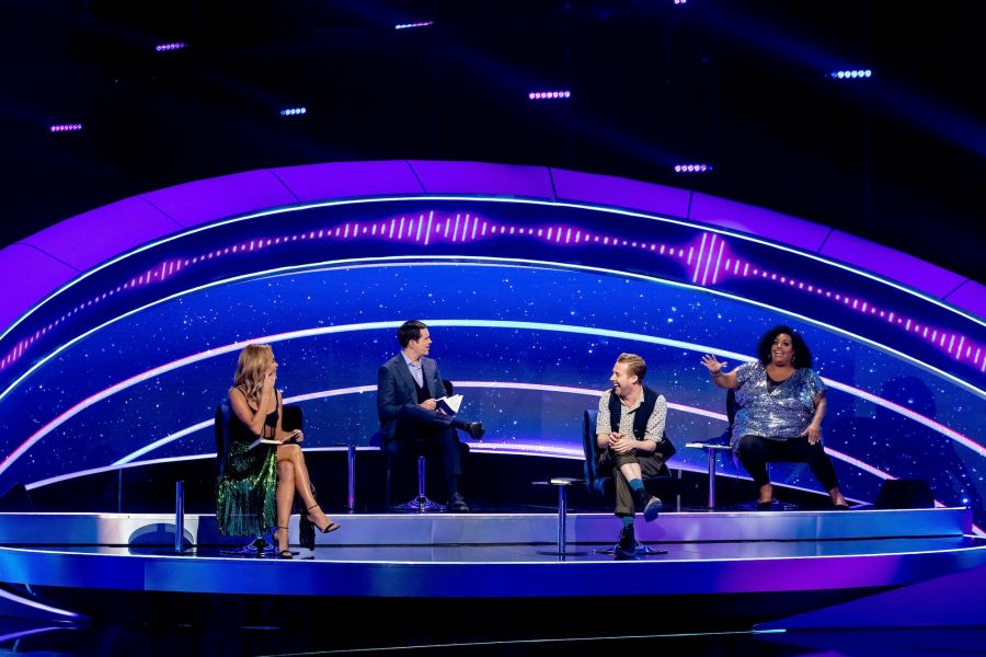 I Can See Your Voice. Celebrity Investigators with special guest Ricky Wilson. Amanda Holden, Jimmy Carr, Ricky Wilson, Alison Hammond - (C) Thames - Photographer: Tom Dymond