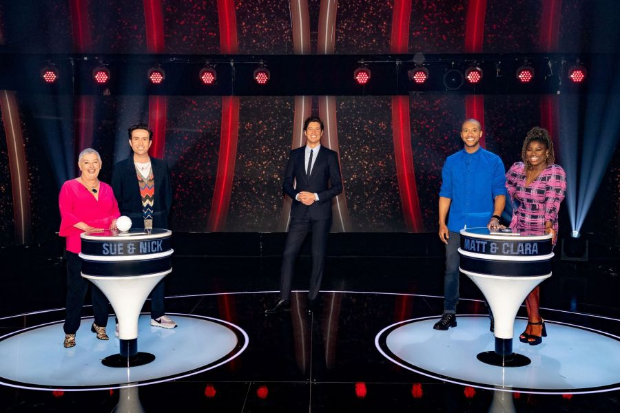 Game of Talents: Ep6 on ITV. Pictured: Sue and Nick Grimshaw, Vernon Kay and Matt and Clara Amfo.