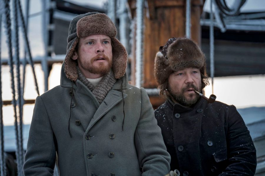 The North Water -  Patrick Sumner (JACK O'CONNELL), Captain Brownlee (STEPHEN GRAHAM) - (C) See-Saw Films - Photographer: Nick Wall