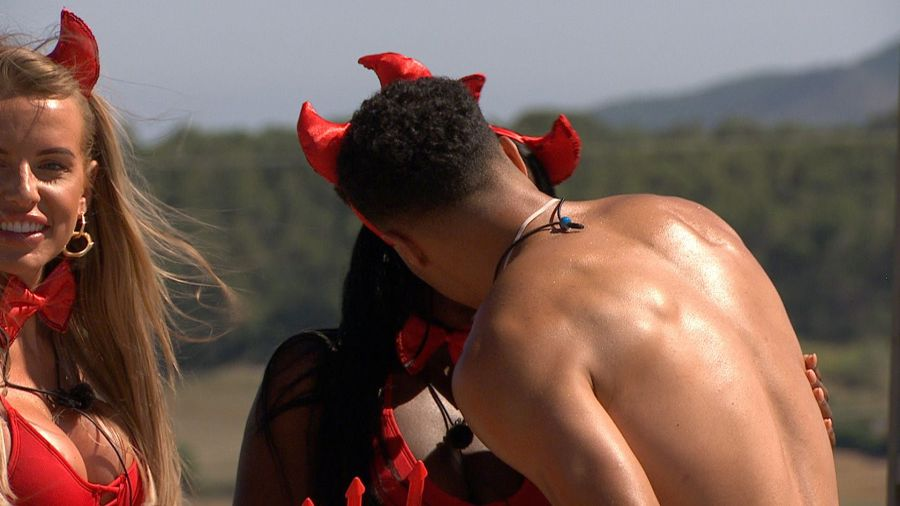 The Horny Devil challenge: Kaz and Toby kiss.