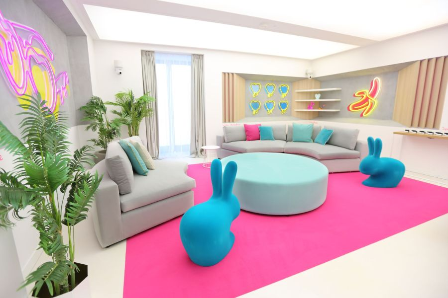 The Love Island Lounge. Picture: ITV