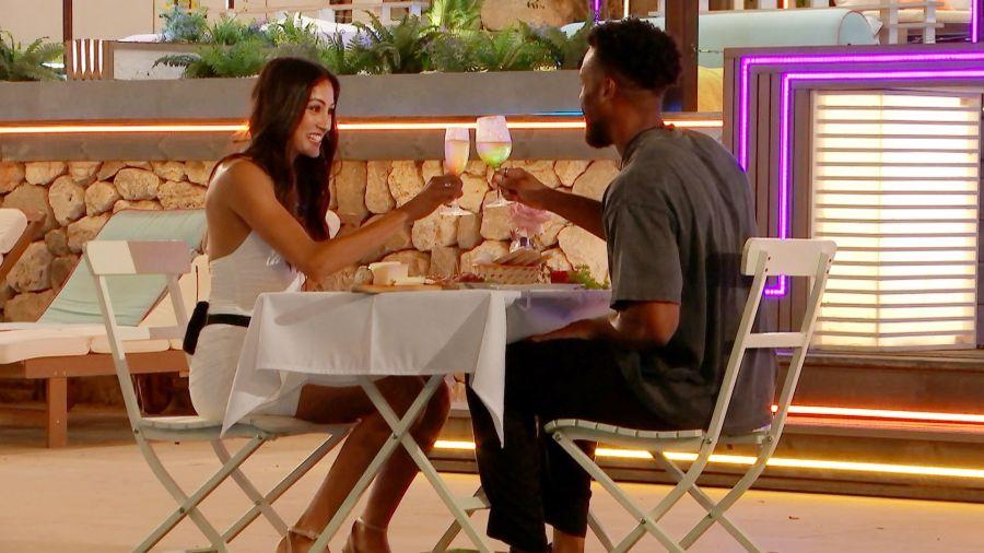 Priya and Teddy on a date.