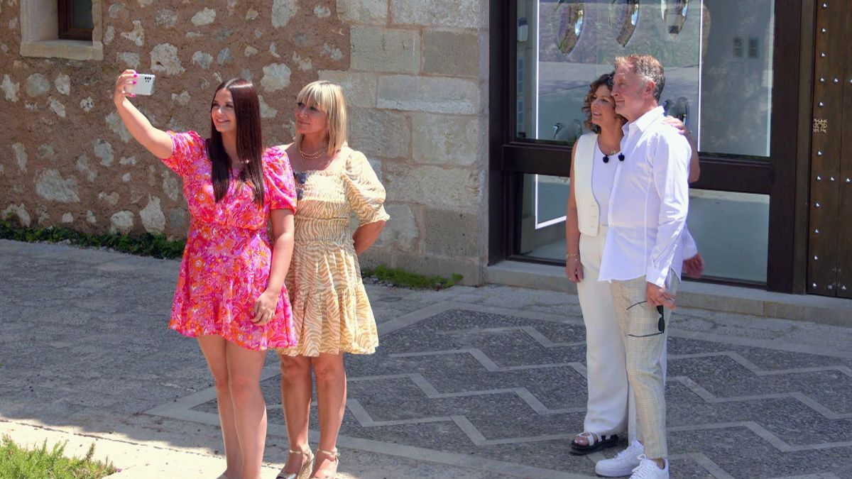 Millie's sister Jessie and Mum Esme and Liam's Mum Donna and Dad Paul.
