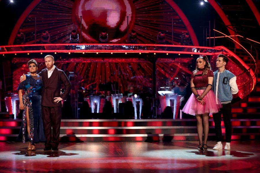 Nina Wadia, Neil Jones, Katie McGlynn, Gorka Marquez - (C) BBC - Photographer: Guy Levy