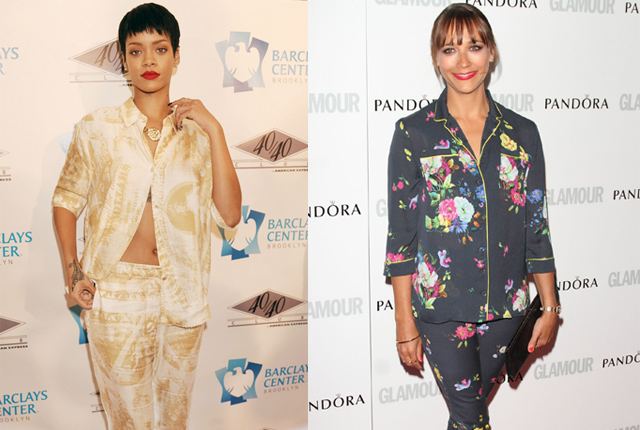 The Bajan beauty has been wearing pajamas on the red carpet since 2009 and probably influenced Rashida's red carpet look last year.
