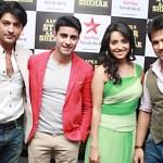 Anas, Gautam, Asha and Rithvik giving a pose for camera
