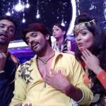 Rajit, Ashish, and Shampa in a funny facial expression