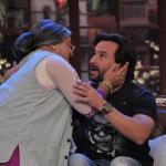 Daadi trying to give Shagun ki Pappi to Saif