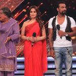 Daadi and Bua comes on stage with Madhuri and Remo