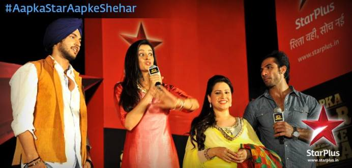 Mihika and Varsha interacting with audience