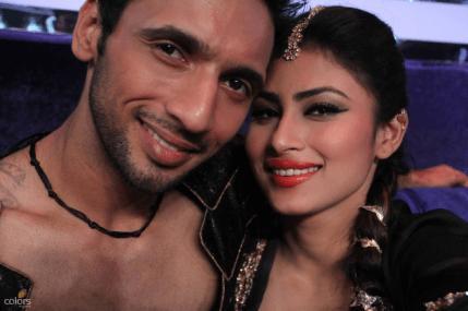 Mouni with her dance partner Puneet selfie