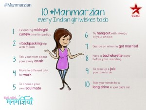 Manmarzian   , new show from Star Plus, starts 13th April