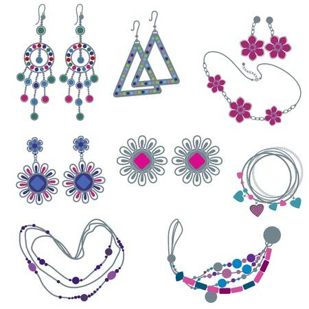Artificial jewellery can be very pretty, even if it is not made of precious gems
