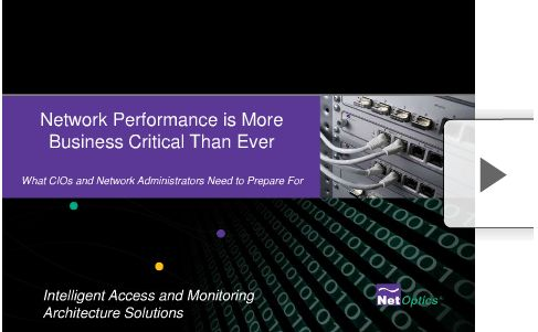 Net Optics Network Performance Management is More Business Critical Than Ever