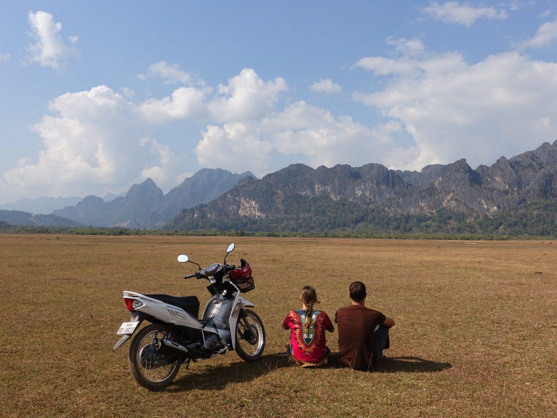circuito en moto en Thakhek: Camino Cool Springs
