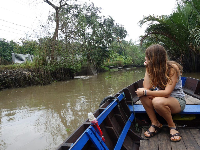 cómo ir al Delta del Mekong por libre: Paseo por los canales.