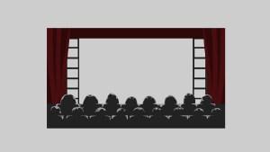 【Frame_A022】アニメーションフレーム「映画館のフレーム」