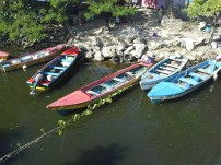 Fishing boats in the rivet