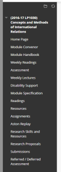 "Blackboard menu ""before"" example."