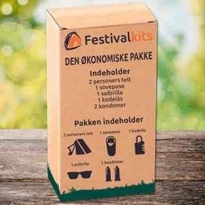 festivalpakke som er meget billigt. Her kan man få festivaltelt og meget mere