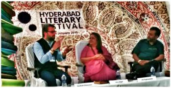 Gautam at hyd Lit festival jan26, 2015
