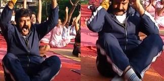 Balakrishna Yoga is the occasion of International Yoga Day