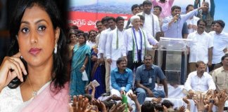 MLA roja not attend ysrcp save vishaka maha dharna