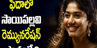 Fidaa Sai Pallavi Fidaa Movie Shocking Remuneration