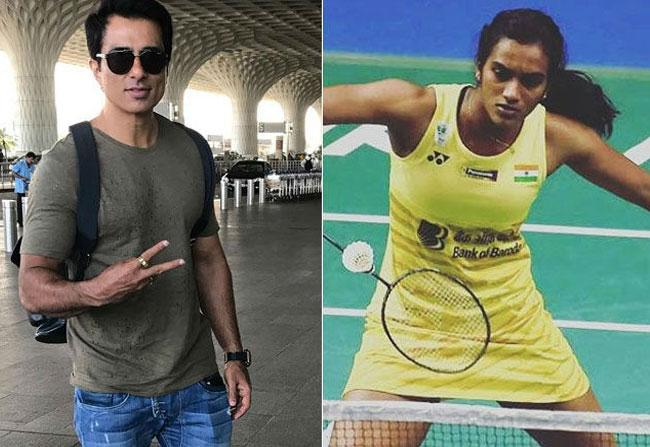 PV Sindhu And Actor Sonu Sood Played Badminton