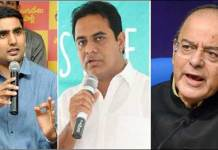 KTR and Nara Lokesh comments on Arun Jaitley over Cash Crunch