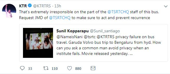 KTR on Krishnarjuna Yuddham movie