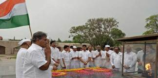 TDP MP's Silent Protest at Raj Ghat For AP Special Status