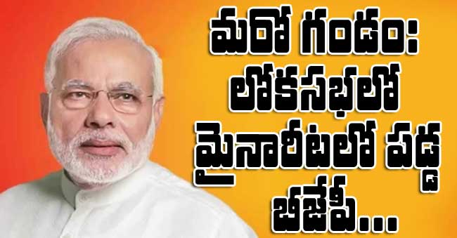 BJP gets Low Majority in Lok Sabha
