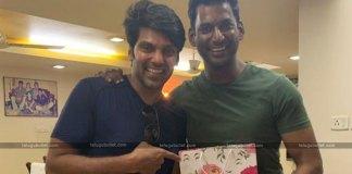 Vishal Gets Surprise With Aryas Wedding Card