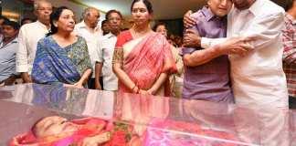 Krishna crying while holding KCR