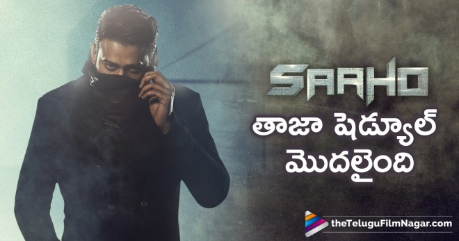 Prabhas Sahoo Shoot Begins in Hyderabad, Sahoo Team Begins Hyderabad Schedule, Prabhas Next Movie, Prabhas Latest News, Sahoo Movie Shooting Details, Sahoo Shooting Schedule, Telugu FilmNagar, Telugu Cinema News, Latest Movie Updates 2018, Indian Film News