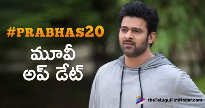 #Prabhas20 షూటింగ్ అప్ డేట్
