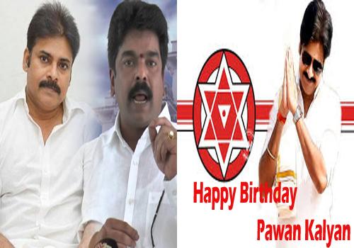 bonda umamaheswara rao banners pawan kalyan birthday janasena symbol