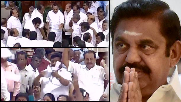 tamil nadu assembly trust vote meetings doing like movie