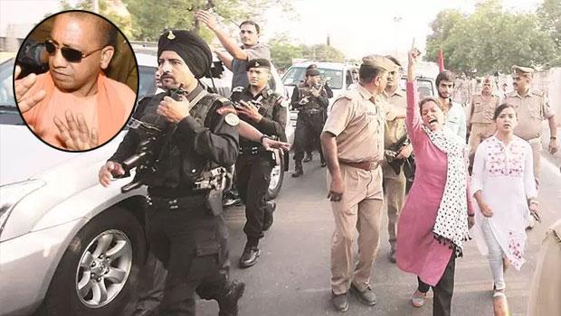 lucknow university students stop the UP CM adityanath convoy