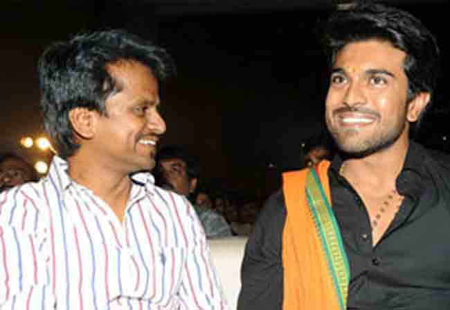 Charan with 'Spyder'