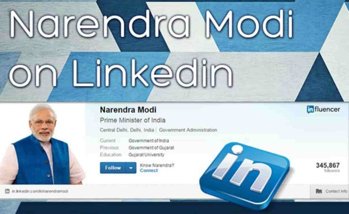 Third Time Modi Is In LinkedIn