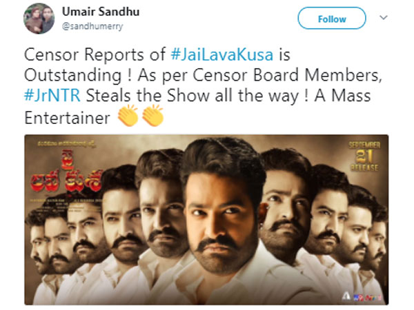 The First Review Of Jr.NTR Jai LavaKusa Is Out Now