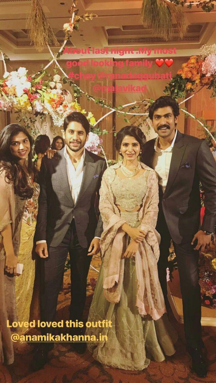 Samantha and Naga Chaitanya reception pictures